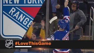 Pavel Buchnevich brings fan to tears after handing over stick