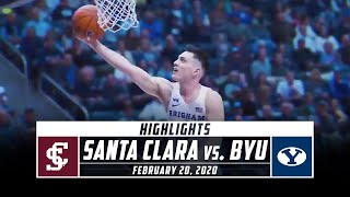 Santa Clara vs. BYU Basketball Highlights (2019-20) | Stadium