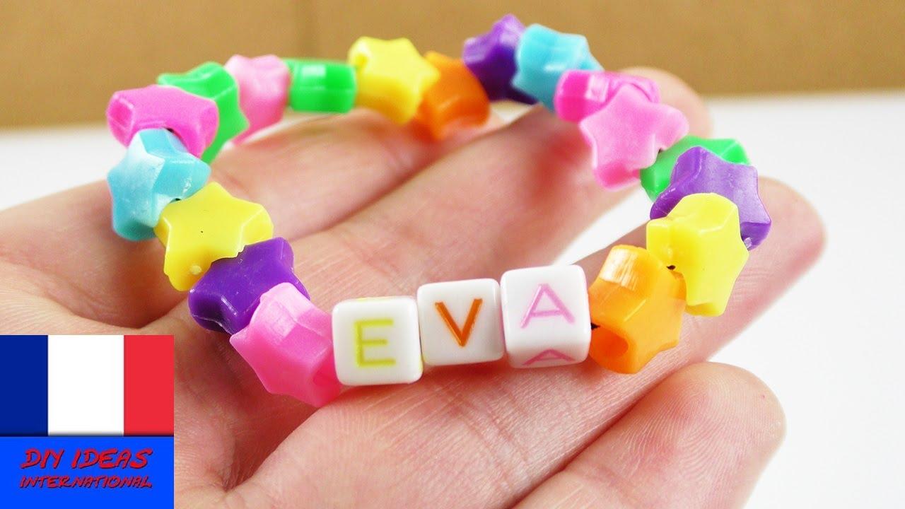 Super joli bracelet faire soi m me bracelet avec perles en forme d 39 toiles nom youtube - Bracelet a faire soi meme ...