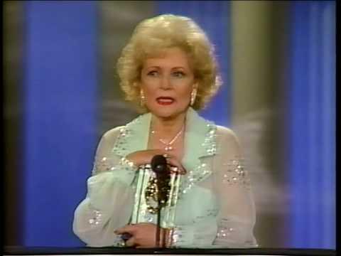 Betty White wins 1987 Comedy Award for Golden Girls