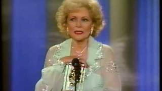 Betty White wins 1987 Comedy Award for Golden Girls