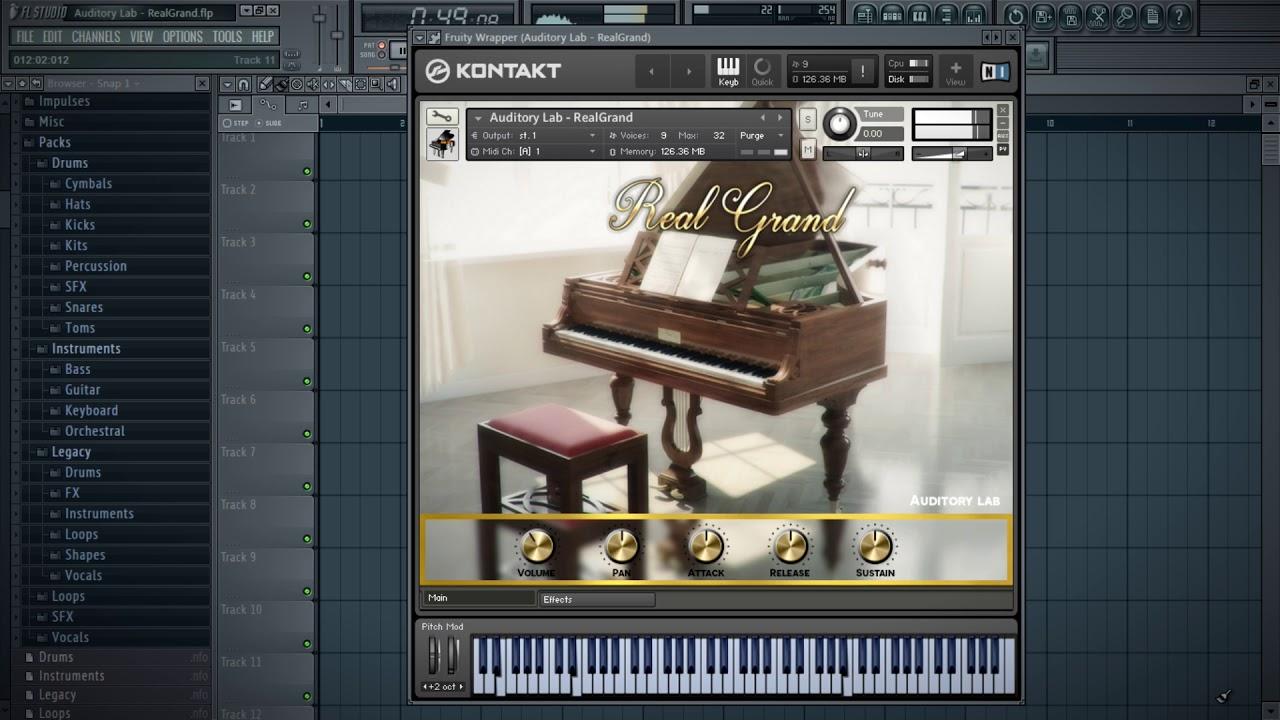 Grand Piano Virtual Instrument (Pc/Mac VST, AU,AAX)