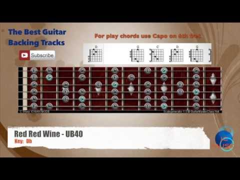 Red Red Wine - UB40 Guitar Backing Track With Scale Chart And Chords