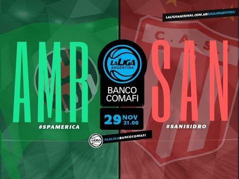 #LaLigaArgentinaBancoComafi   29.11.2018 Sportivo America vs. San Isidro