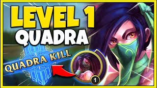 RANK1 AKALI WORLD GETS A LEVEL 1 QUADRA IN HIGH-ELO...THIS HAPPENS! - League of Legends