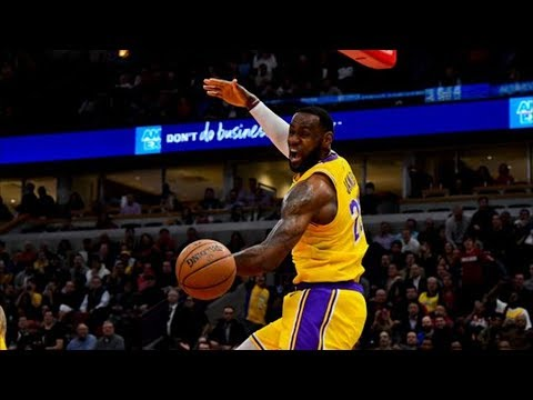 LeBron Reverse Lob Off Glass and Ground! 2018-19 NBA Season