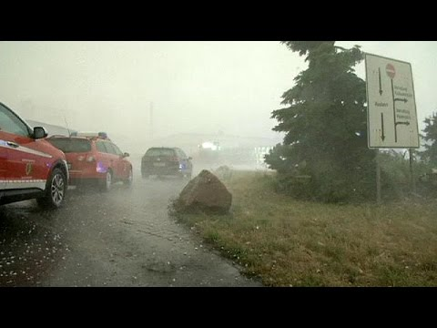 Germany's crazy weather: from boiling hot to giant hail stones