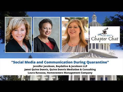 CHAPTER CHAT: Social Media & Communications During Quarantine