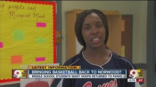 Middle school students petition city to bring basketball back to Norwood