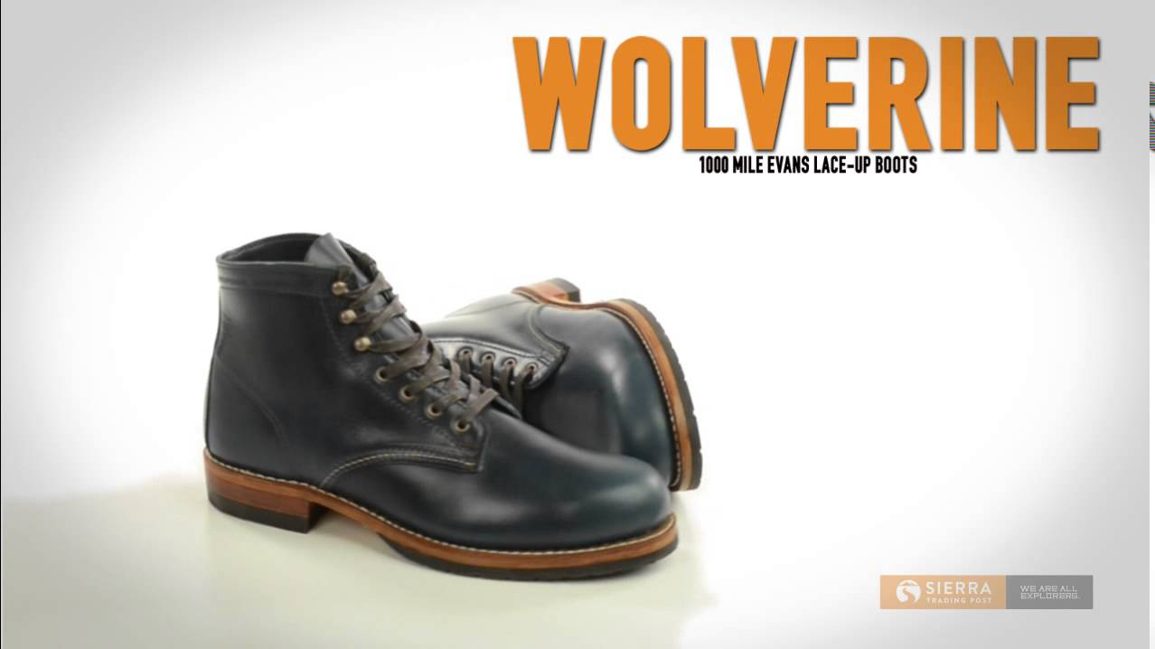 dbe05b1e36d Wolverine 1000 Mile Evans Lace-Up Boots - Leather, Factory 2nds (For Men)