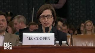 WATCH: Trump directed hold on U.S. aid to Ukraine, Cooper testifies   Trump impeachment hearing