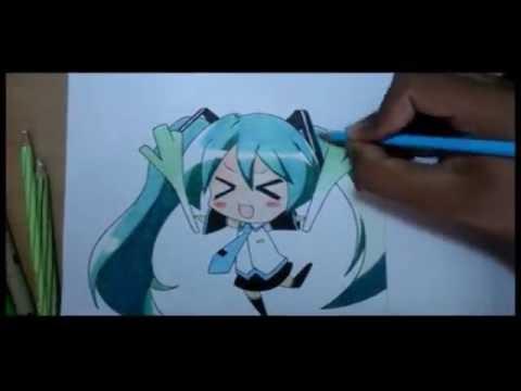 Anime Drawing Time Lapse Chibi Hatsune Miku