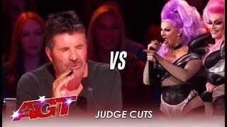 OUCH! Drag Queen Singers Get Into Nasty FIGHT With Simon Cowell | America's Got Talent 2019