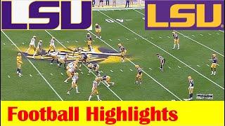 Team Purple Vs Team White, 2021 LSU Spring Football Game Highlights