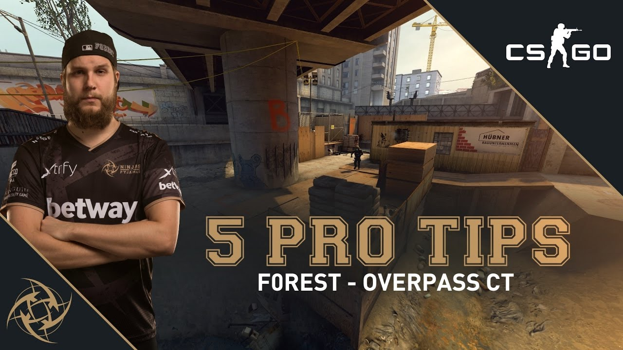 5 Pro Tips - f0rest CT side (overpass) Videosu