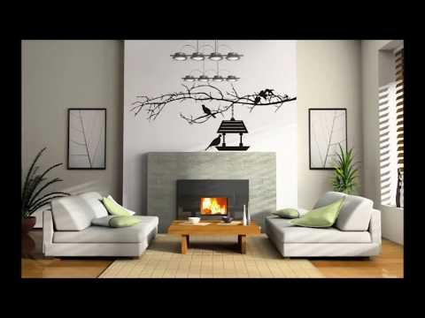 Как красиво оформить стену в гостиной