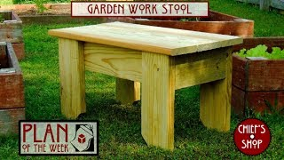 Chief's Shop Plan Of The Week: Garden Work Stool