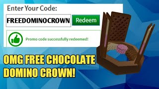 "NEW ROBLOX PROMOCODE|| *REAL* ""HURRY"" YOU CAN GET A CHOCOLATE DOMINO CROWN!"