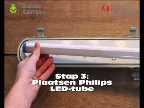 Plaatsen van Philips MasterLED en CorePro LEDtubes - YouTube