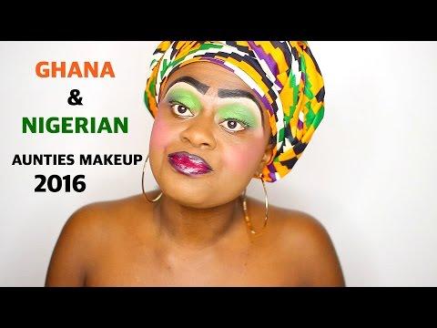 GHANA & NIGERIAN AUNTIES MAKEUP 2016 |  WORST MAKEUP EVER | JENEEVALOVE