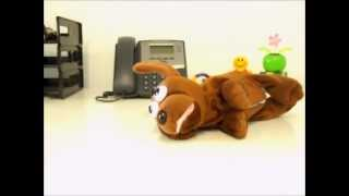 Rollover Dachshund Laughing Dog | Officeplayground.com
