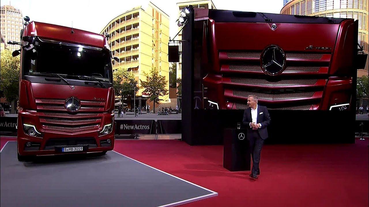 2019 mercedes benz actros truck revealed youtube. Black Bedroom Furniture Sets. Home Design Ideas
