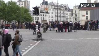 Le Front social descend dans la rue combattre «les projets de régressions sociales» de Macron