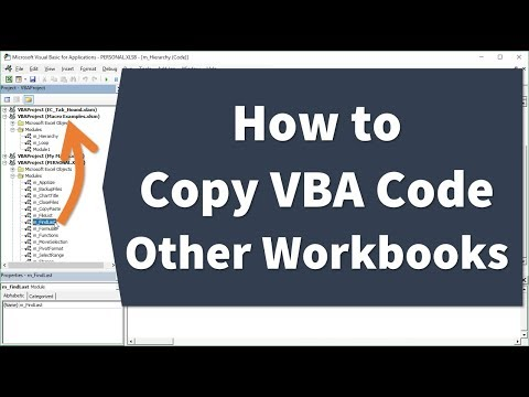 How to Copy or Import VBA Code to Another Workbook - Excel Campus
