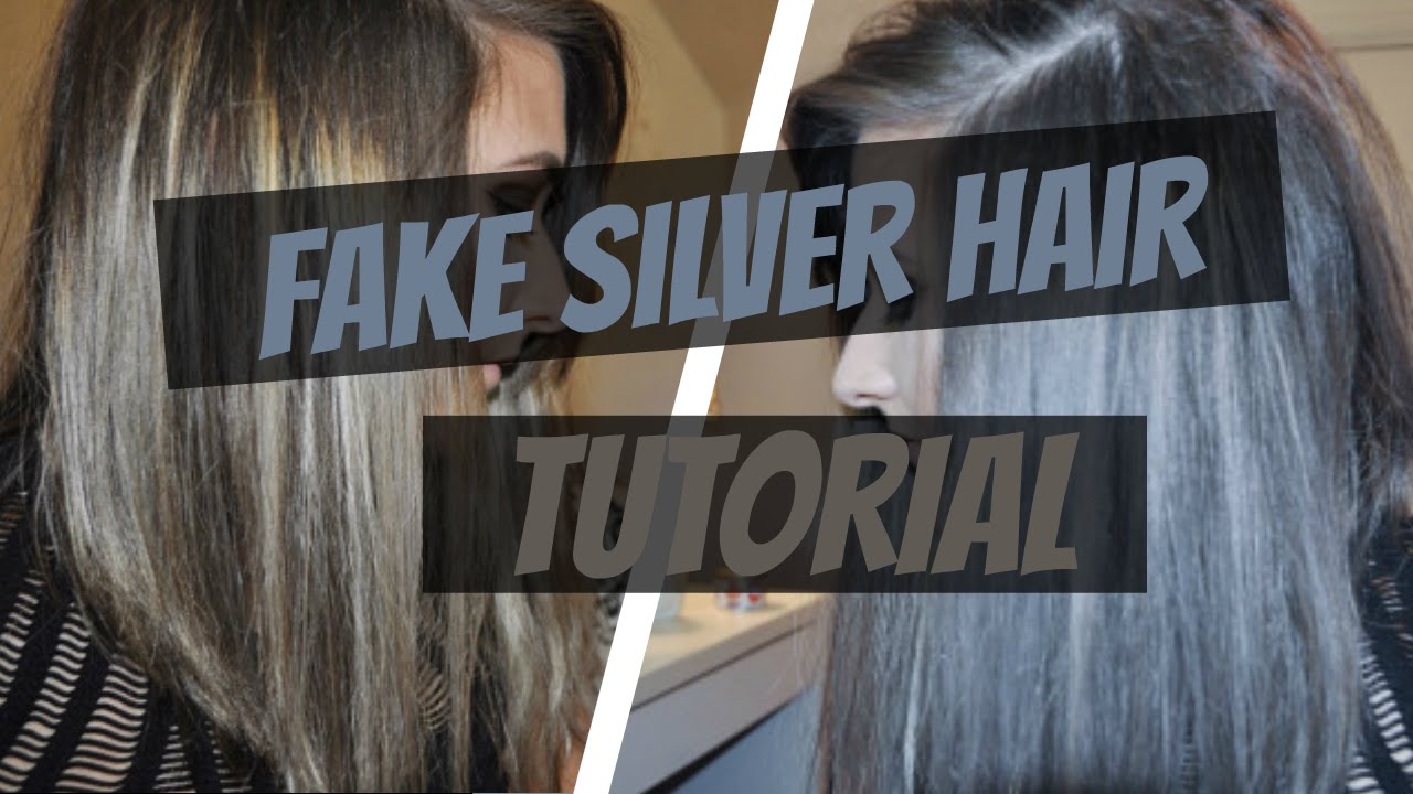 Fake Temporary Silver Hair Tutorial Using Fanci Full Youtube