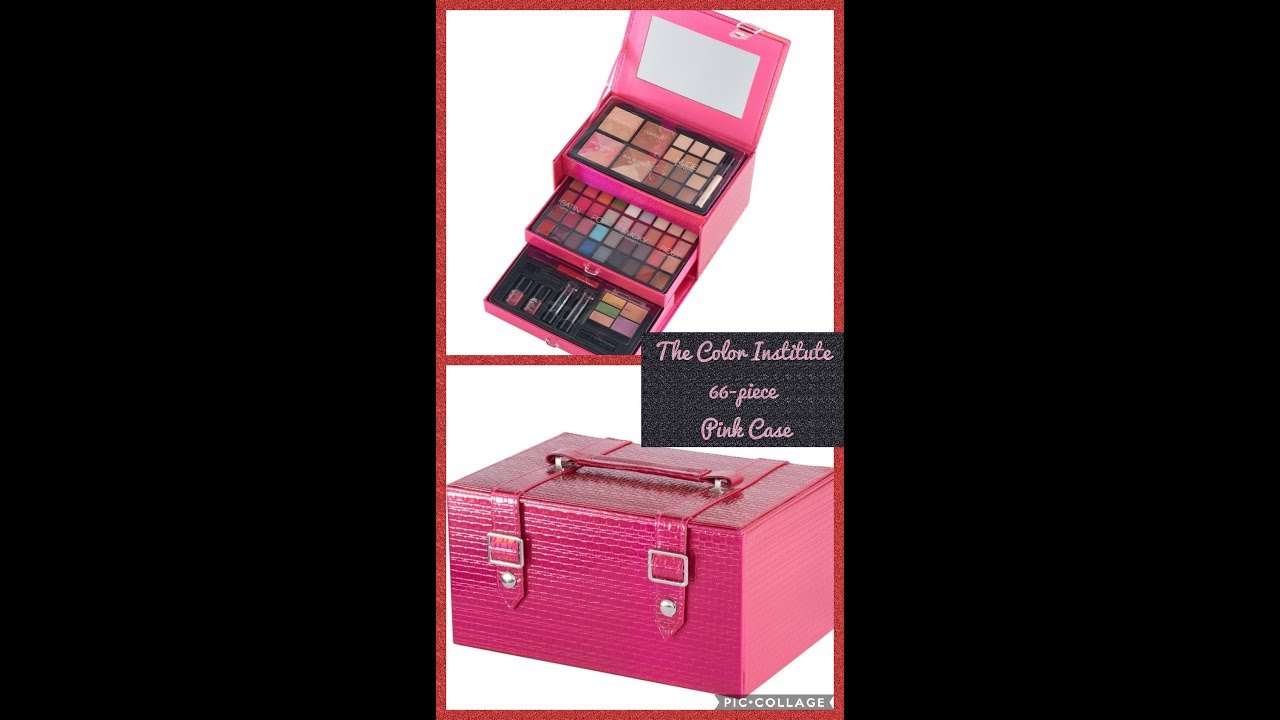 The Color Insute 66 Pc Pink Case Defining Beauty Cosmetics Set