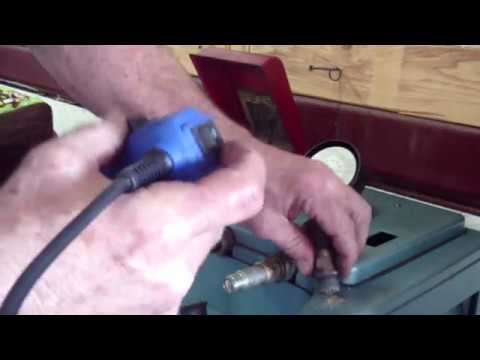 Spark Plug Cleaning  -  Grumman Style
