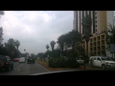 driving thru downtown Nairobi kenya