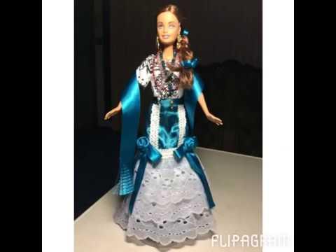 Muñeca Barbie con traje típico de Campeche - YouTube af672e39079