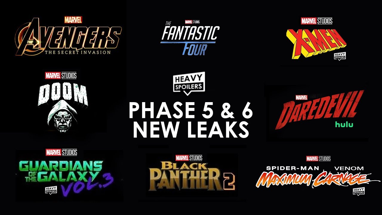 MCU New Phase 5 Leaks Full Breakdown On All Upcoming MARVEL Movies & TV Shows | D23, Avengers &a