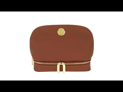 fae4bbd7246 JOY Smart Chic Leather Travel Case w Secret Section - YouTube