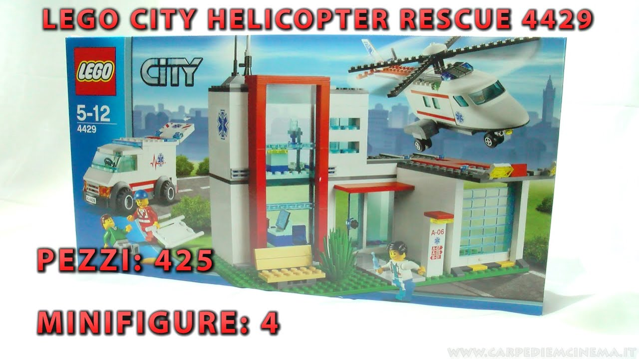 Elicottero Lego City : Lego city elicottero di salvataggio helicopter