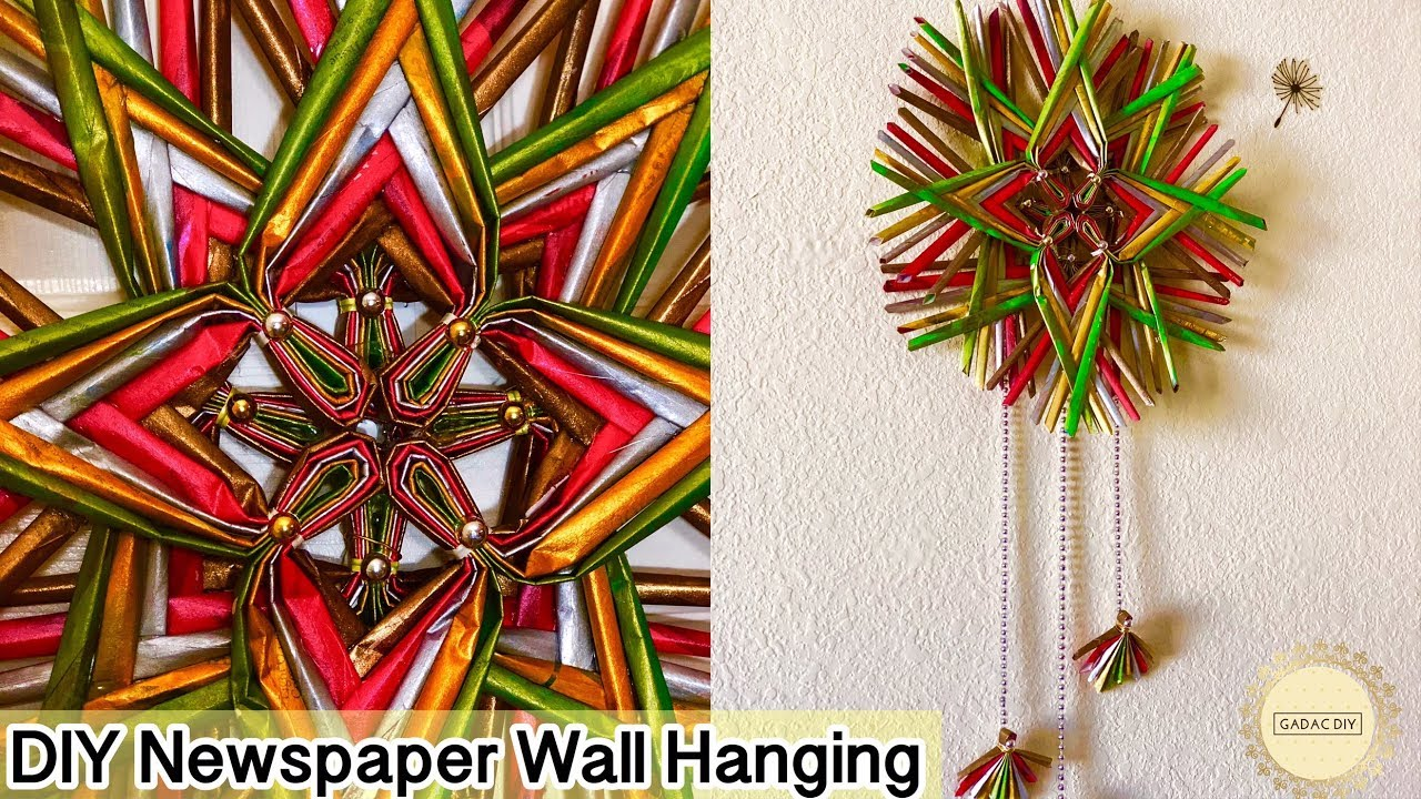 Newspaper Wall Hanging Easy Newspaper Crafts Diy Paper Crafts Easy Best Out Of Waste Crafts