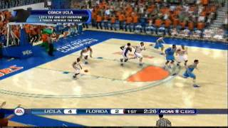 NCAA Basketball 10 Gameplay - UCLA Bruins at FLA Gators (PS3)