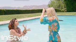 "Laura Brown and Selena Gomez Play a Game of ""Heads Up"" Act It Out 