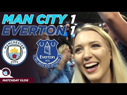 Man City 1 - 1 Everton Vlog   Better Team With 10 Men!