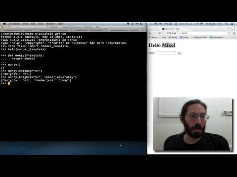 How The Jinja2 Templates Work With Python **kwargs