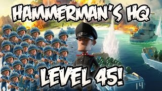 Boom Beach - How to Beat Hammerman's HQ Level 45 WITH ONLY RIFLEMEN!