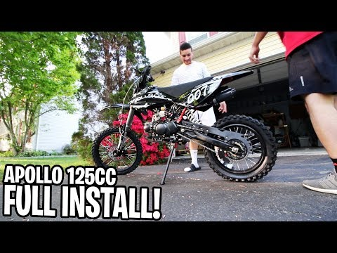 UNBOXING My New Apollo 125cc Pit Bike! How To Put Together Apollo 125cc Pit/Dirt Bike!