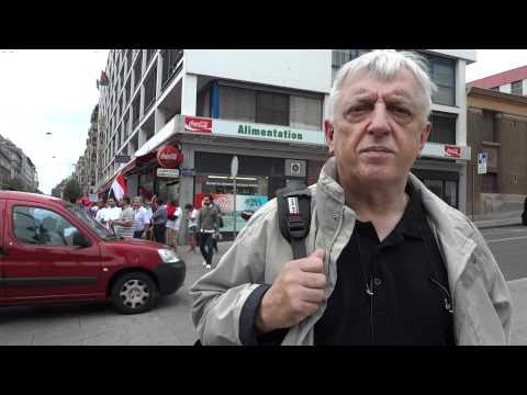 Ueli Leuenberger lors de la manifestation contre le régime syrien vendredi 13 août à Genève