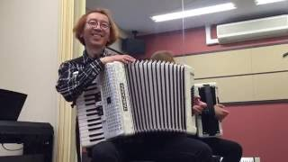 "Over the Rainbow/Harold Arlen"" Casually playing the Accordion. Perf..."