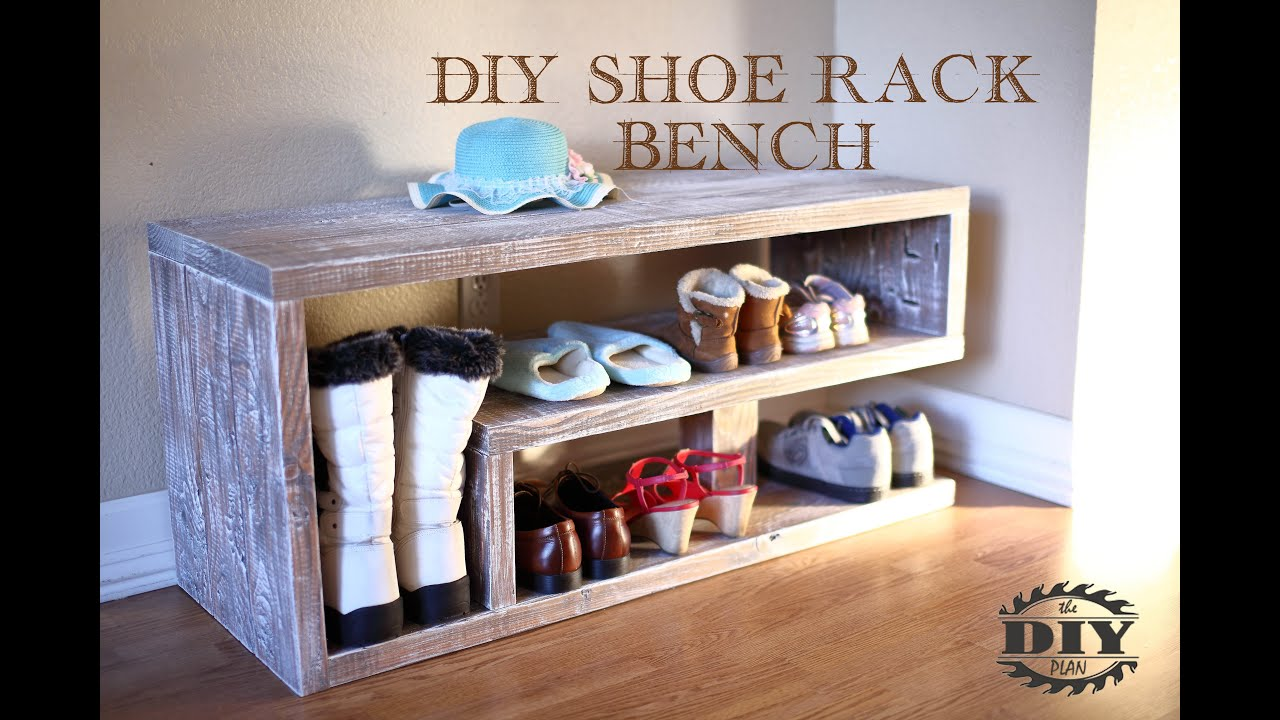 How To Build A Diy Entryway Shoe Rack Bench Youtube