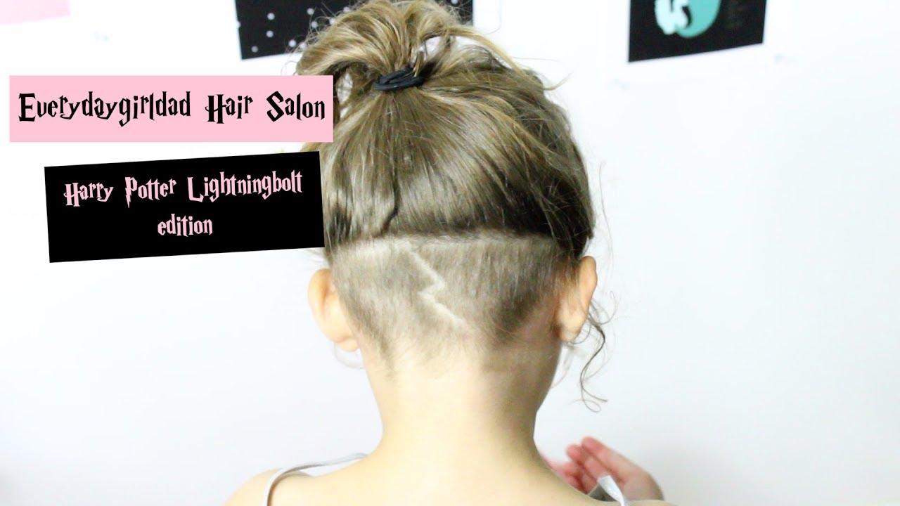 Everyday Girl Dad Hair Salon Harry Potter Lightning Bolt Youtube