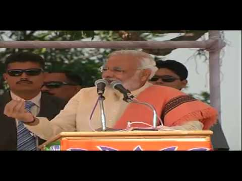 Shri Narendra Modi addressing a Public Meeting in Shahdol, Madhya Pradesh