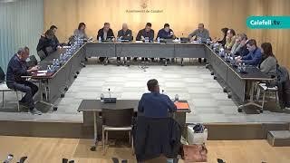 Ajuntament de Calafell: 1ª sessió plenària extraordinària, 27 de desembre de 2017