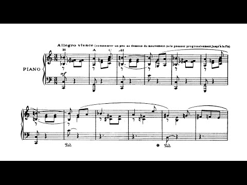 Francis Poulenc - Valse-improvisation sur le nom de BACH (audio + sheet music)